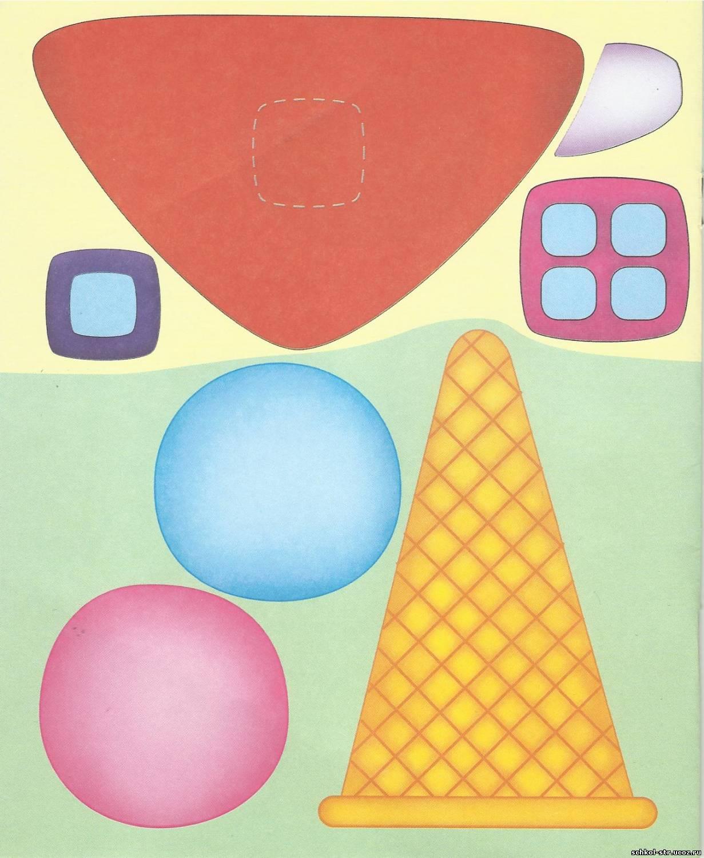 Поделка мороженое из цветной бумаги 2