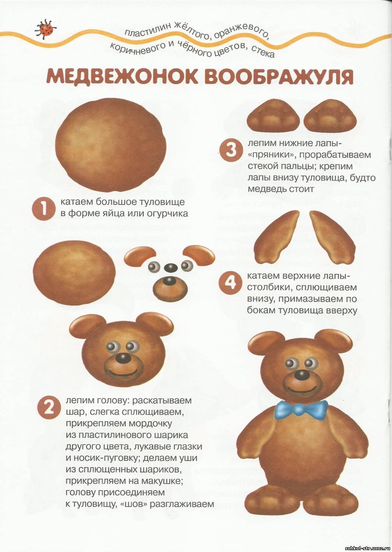 Медвежонок Воображуля - поделки