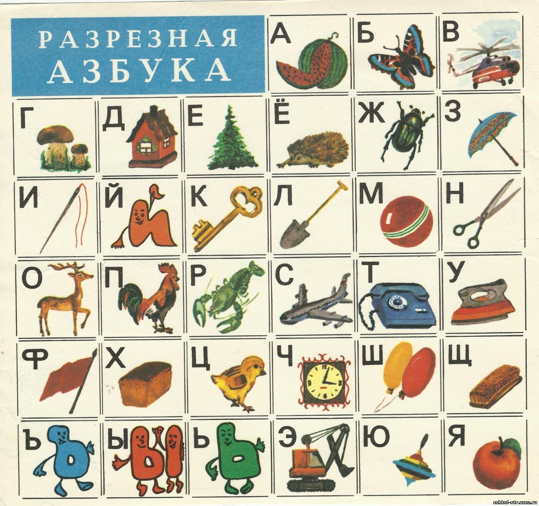 Советская азбука в картинках