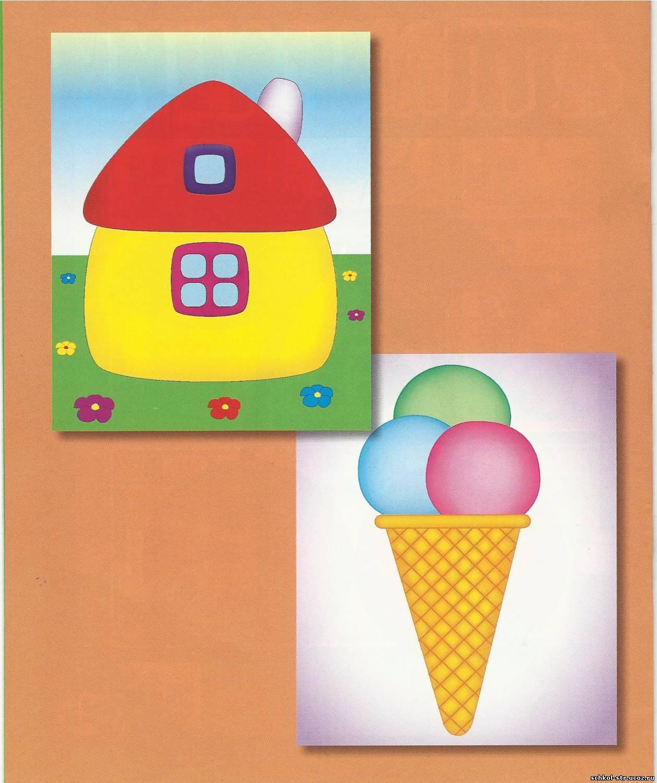 Поделка мороженое из цветной бумаги 46